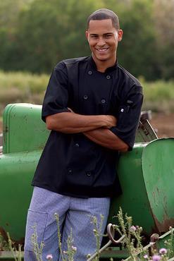 Montego Short Sleeve Moisture Management Chef Coat