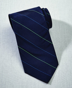 Pinstripe Silk Server Tie and Ladies Tulip (Discontinued NOT Returnable)