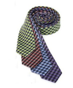 Resort Hotel Collegiate Plaid Polyester Tie