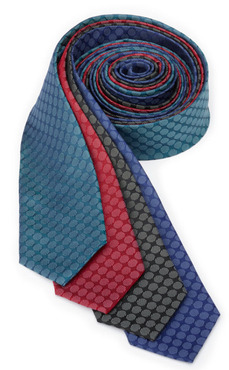 Restaurant Server Tone-on-Tone Circles Silk Tie