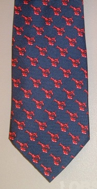 Restaurant Silk Lobster Tie
