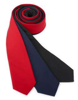 Server Narrow Solid Polyester Ties