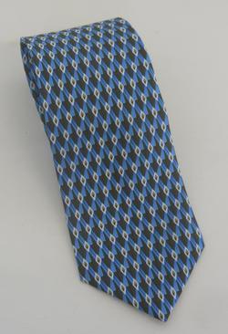 Server Polyester Diamond Geometric Tie