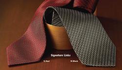 Signature Links Silk Tie
