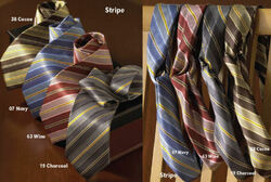 Stripe Polyester  Ties and Women's Loop Ascots