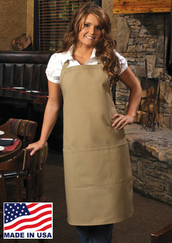 Three Pocket Butcher Apron with Optional Chest Pencil Pocket