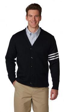 Unisex 5-Button Youth/Adult V-Neck Varsity Cardigan