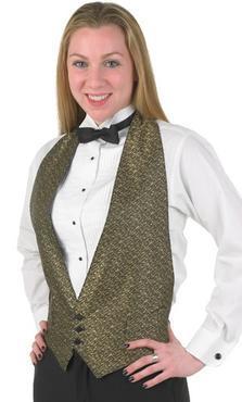 Unisex Backless Server Matrix Vest