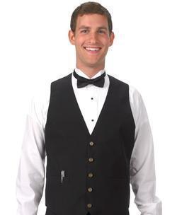 Unisex Silky Belted-Back Waiter Vest