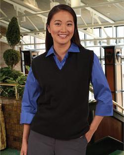 Unisex V-Neck Cotton Blend Sweater Vest