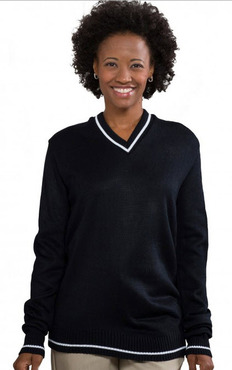 Unisex Youth/Adult V-Neck Varsity Pullover Sweater