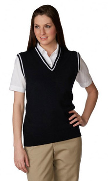Unisex Youth/Adult V-Neck Varsity Pullover Sweater Vest