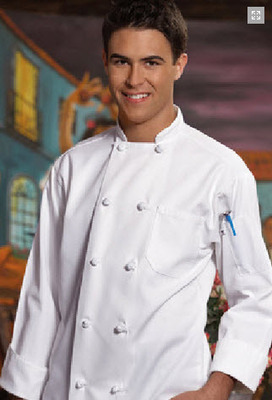 Value Cotton Chef Coat With Cloth Knot Buttons
