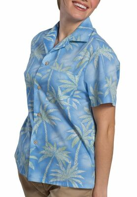 Unisex Restaurant Palm Camp Shirt