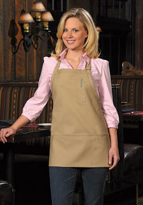 Three Pocket Bib Apron with Pencil Pocket