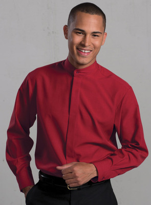 Men's Extreme Restaurant Banded Collar Shirt