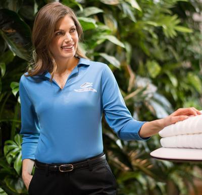 Ladies Snag-Resistant Restaurant Server 3/4 Sleeve Performance Polo
