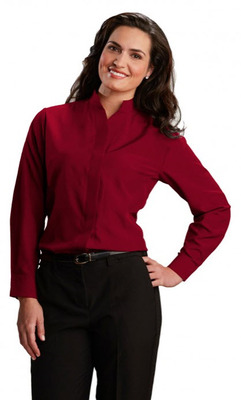 New Ladies Womens Cotton Blend Fitted Shirt Long Sleeve Blouse Smart Casual Tops