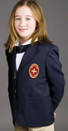 Girl's Polyester Blazer (Crest Patch NOT Included)
