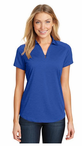 Ladies Server One Button Moisture Wicking Heather Polo Shirt