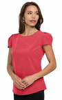 Ladies Hotel Scoop Neck Cap Sleeve Blouse