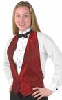 Unisex Backless Server Paisley Vest