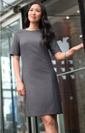 Ladies Resort Hotel Washable Jewel Neck Dress