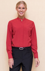 Ladies Restaurant Casino Stand-Up Mandarin Collar Shirt