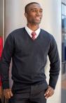 Unisex 100% Cotton V-Neck Sweater