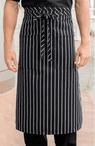 Cafe Chalk Stripe Two Patch Pocket Bistro Apron