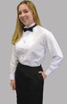 Girl's Wing Collar Concert Tuxedo Shirt (Sizes are Ladies Sizes 0-28, NOT Girls)