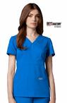 Junior Grey's Anatomy&#0153 3-Pocket Mock Wrap Scrub Top
