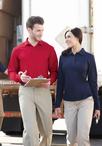 Men's Long Sleeve Moisture Management Pique Polo