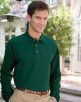 Unisex Long Sleeve Cotton Polo Shirt