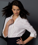 Ladies Ultimate Stretch 3/4 Sleeve V-Neck Restaurant Blouse