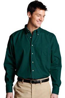 Men's Poplin Shirts Button Down Collar: SharperUniforms.com