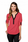 Ladies Restaurant Three Quarter Sleeve Tunic