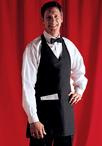 V-Neck Tuxedo Apron with Center Divided Pocket