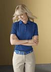 Ladies Jacquard Moisture Management Pique Polo