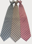 Resort Hotel Striped Zipper Tie