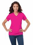 Ladies Waitress V-Neck Moisture Wicking T-Shirt