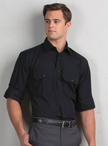 Men's Roll-Up Waiter Shirt with Pleated Pockets