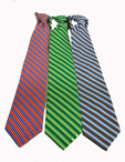 Hotel Banquet Striped Zipper Tie