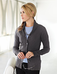 Ladies Rib Knit Cardigan Sweater