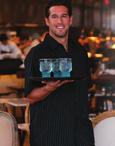 Unisex  Pinstripe Restaurant Server Shirt