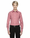 Ladies Server Fine Gingham Check No-Iron Blouse
