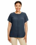 Ladies Short Sleeve Spa Crepe Tunic