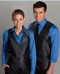 Ladies Banquet Grid Brocade Vest