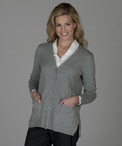 Ladies V-Neck Long Cardigan Sweater