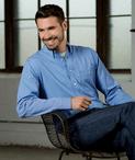 Men's Server Wrinkle Resistant Micro Check Shirt